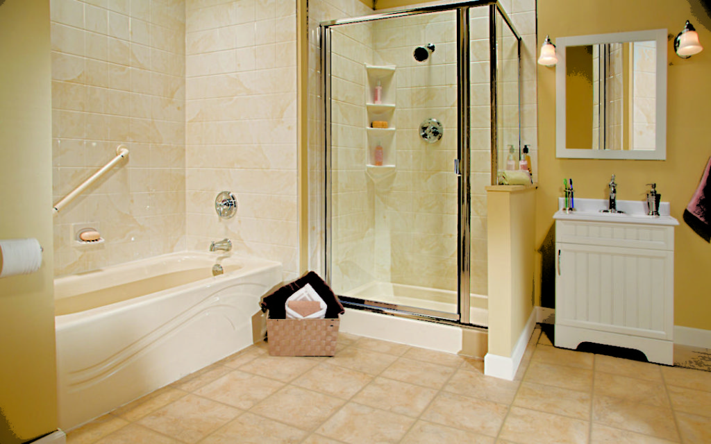 Almond Shower and Tub